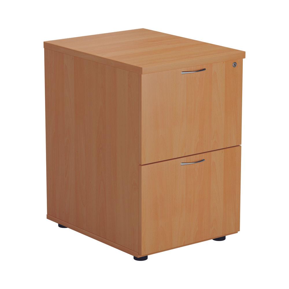 Jemini V2 710mm Beech 2 Drawer Filing Cabinet