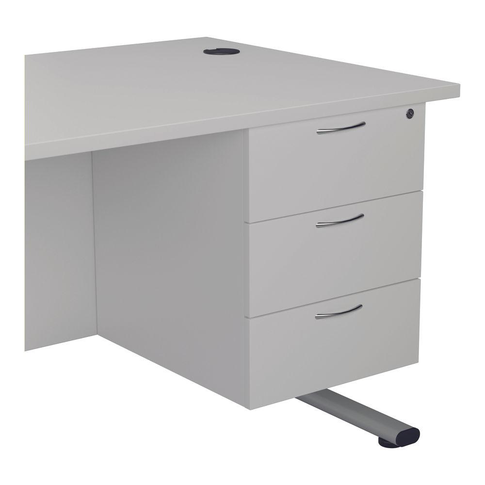 Jemini 495mm White 3 Drawer Fixed Pedestal