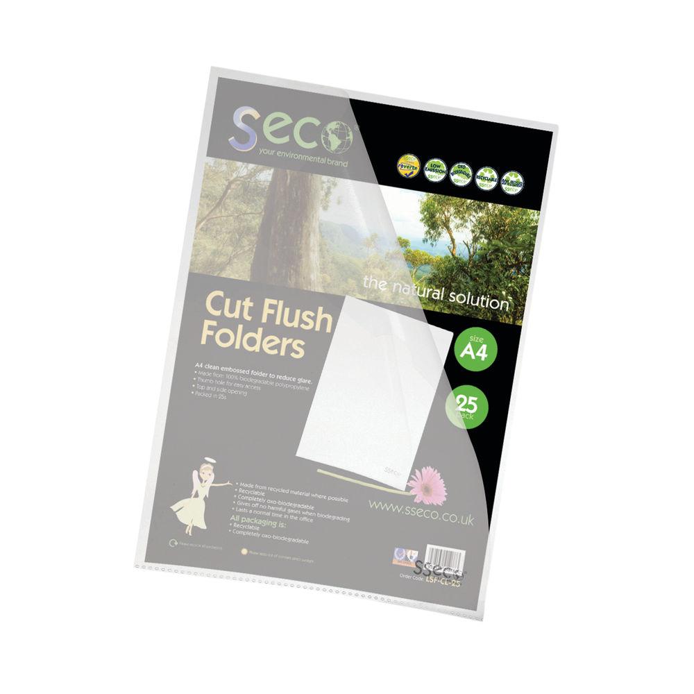 Stewart Superior Seco A4 Clear CutFlush Folders (Pack25) – LSF-CL/25