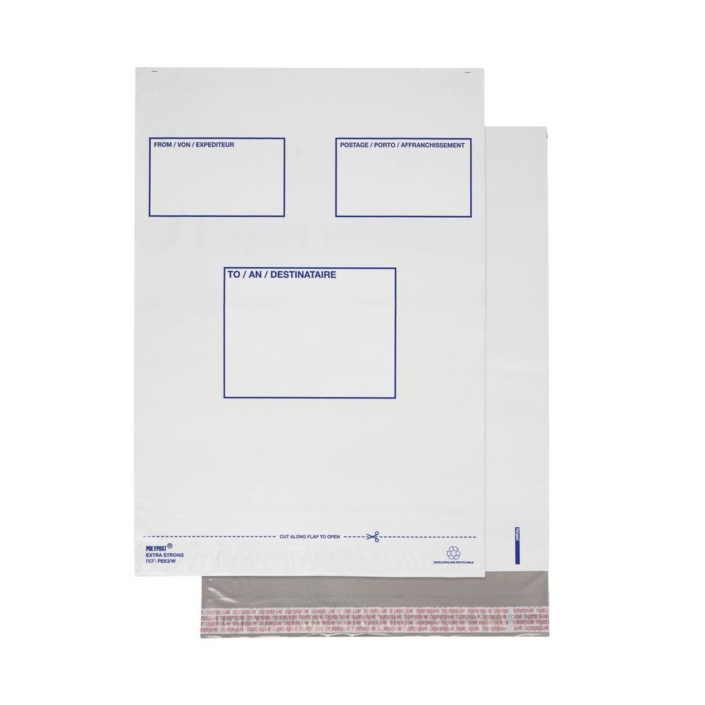 Polylope White Mailer Envelopes (Pack of 100) – BSB-202