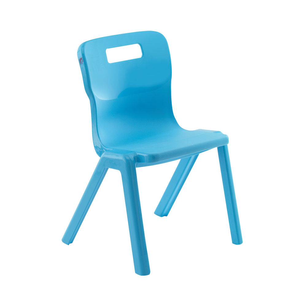 Titan 460mm Blue One Piece Chairs, Pack of 30