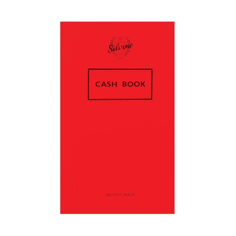 Silvine Plain Cash Book 72 Pages 159x95mm (Pack of 24) 042C-T