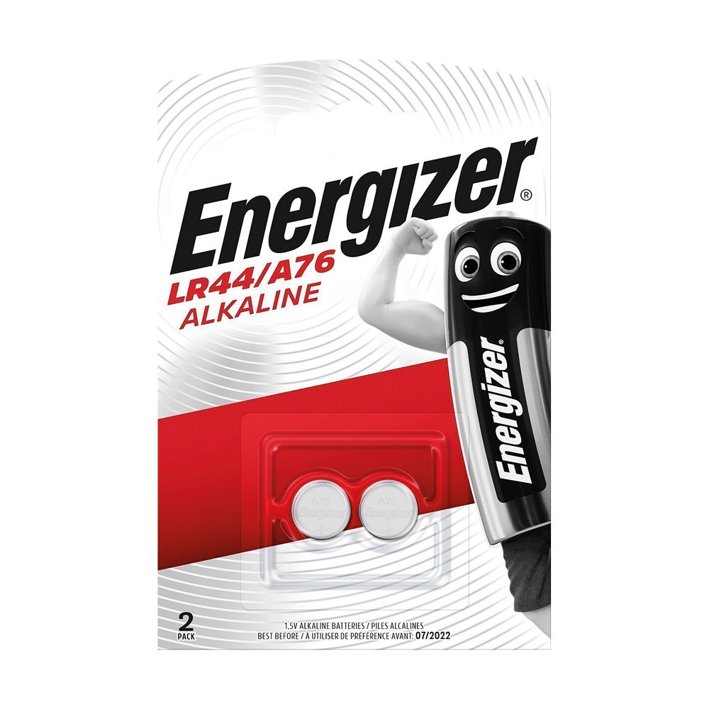 Energizer A76 LR44 Button Battery (Pack of 2) - 623055