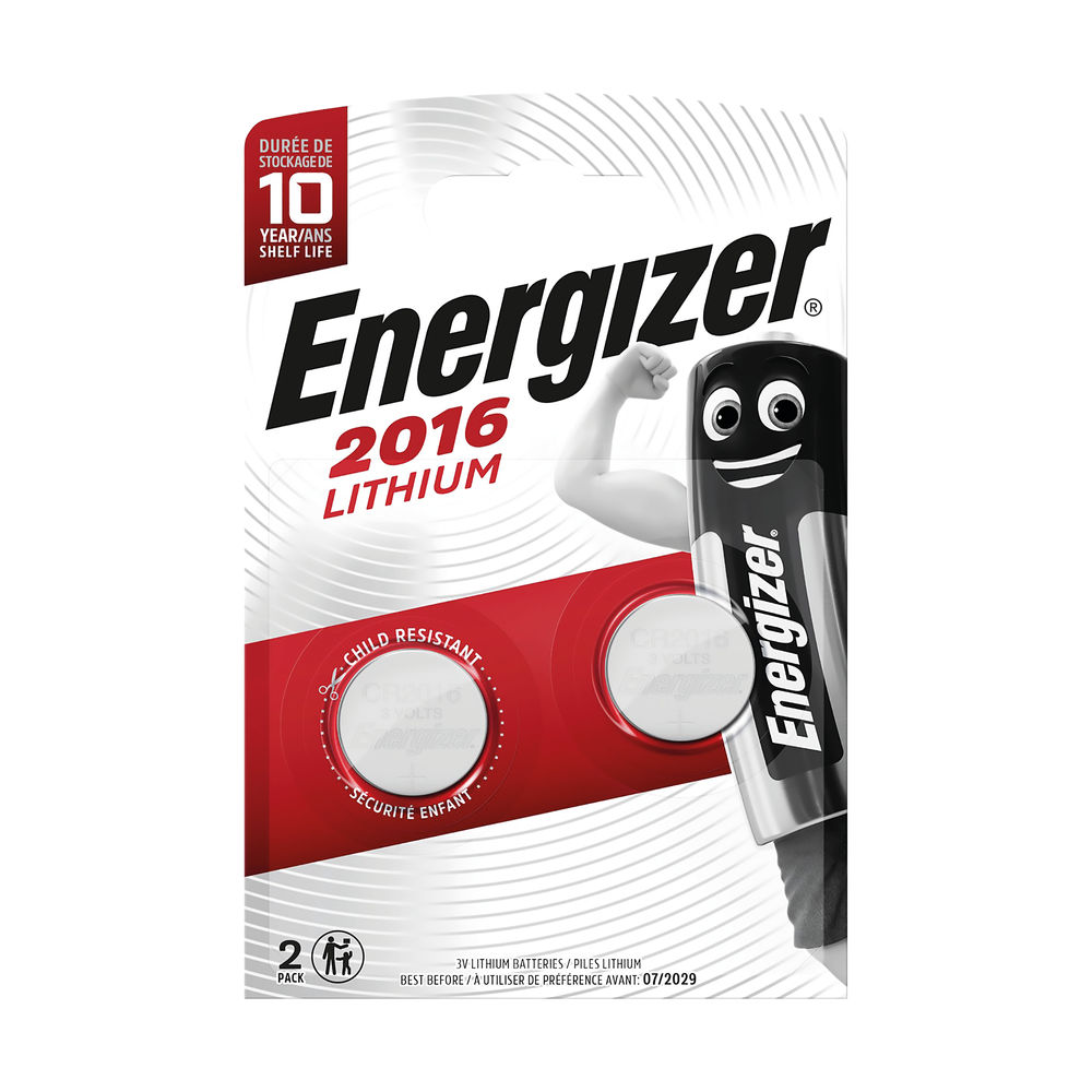 Energizer Special Lithium Batteries 2016/CR2016, Pack of 2 - 626986