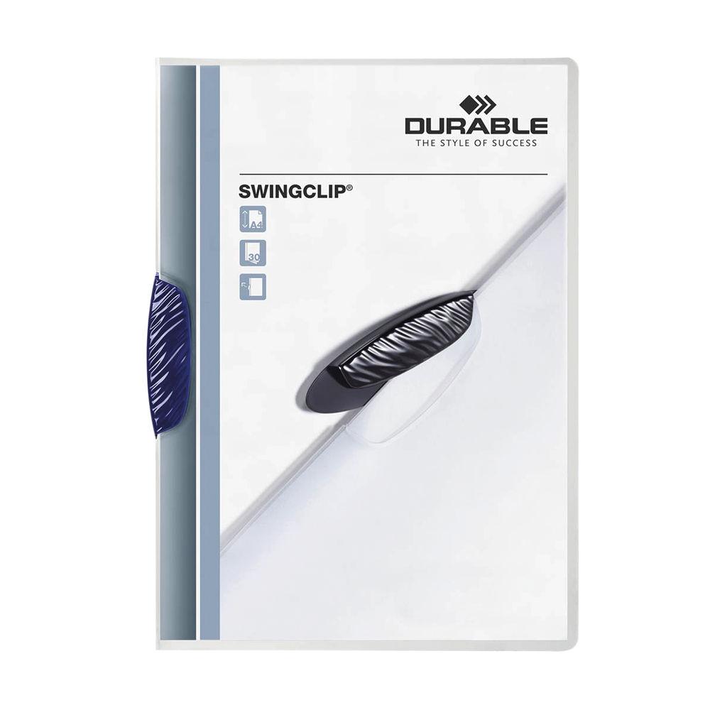 Durable Swingclip Dark Blue A4 Folders - Pack 25 - 2260-07