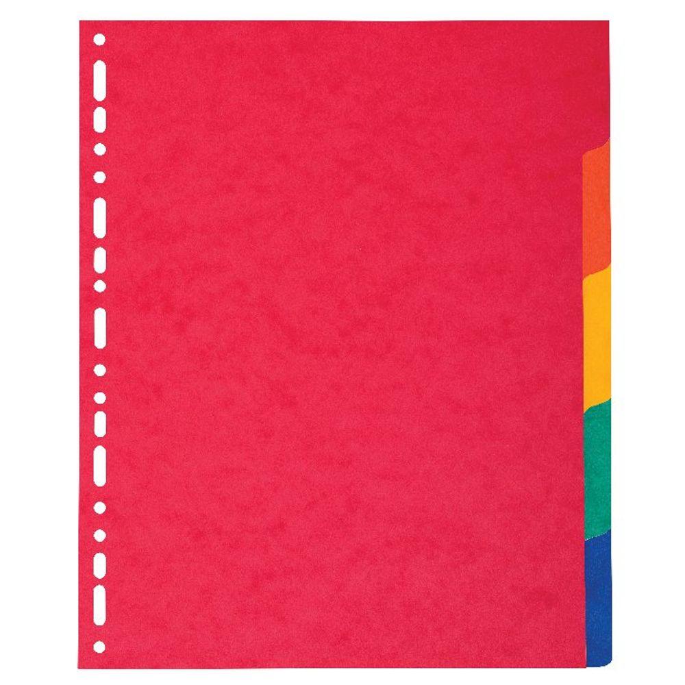 Exacompta Pressboard A4 5-Part Maxi-Bright Dividers – 2405E