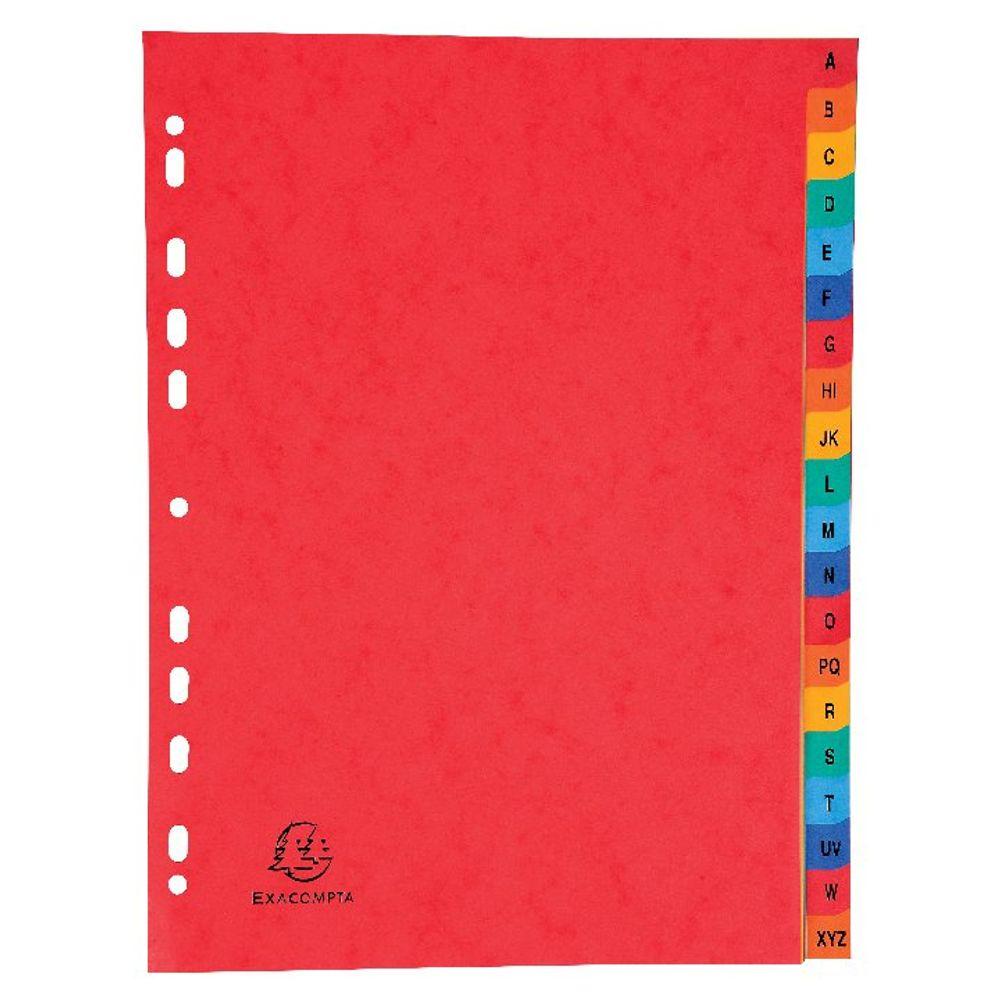 Europa Coloured A4 A-Z 20-Part Pressboard Index - 4803Z
