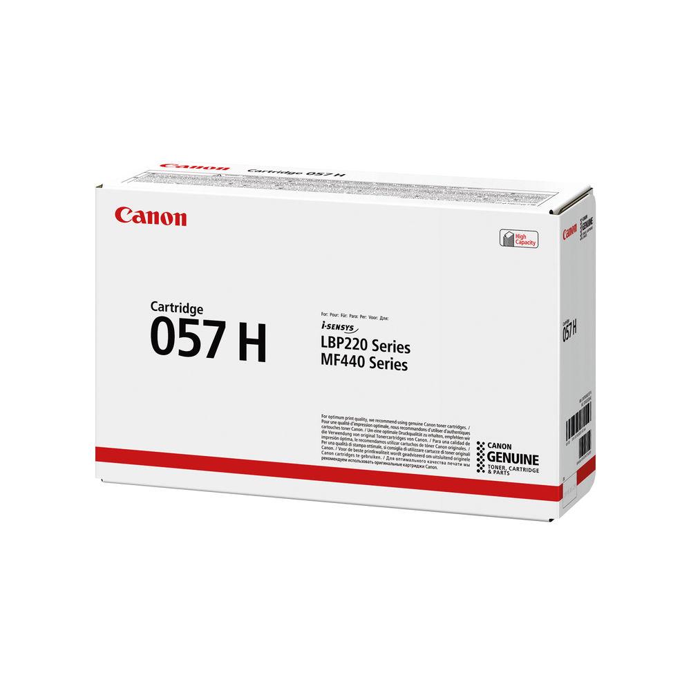 Canon 057H Black High Yield Laser Toner Cartridge 3010C002