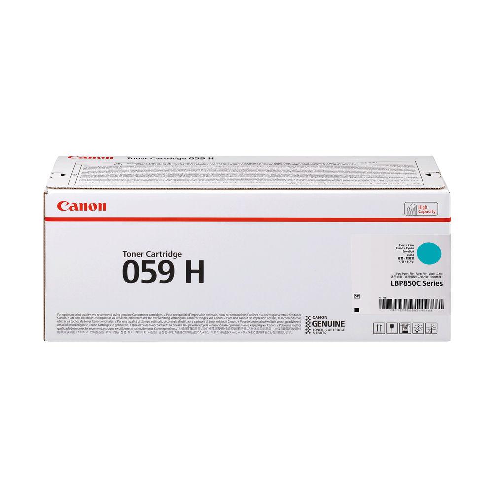 Canon 059H Cyan High Yield Laser Toner Cartridge 3626C001