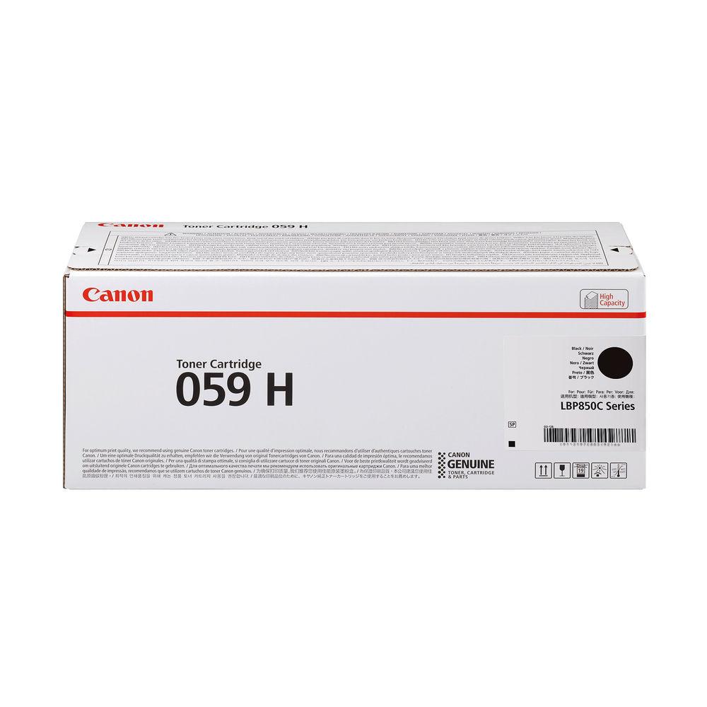 Canon 059H Black High Yield Laser Toner Cartridge 3627C001