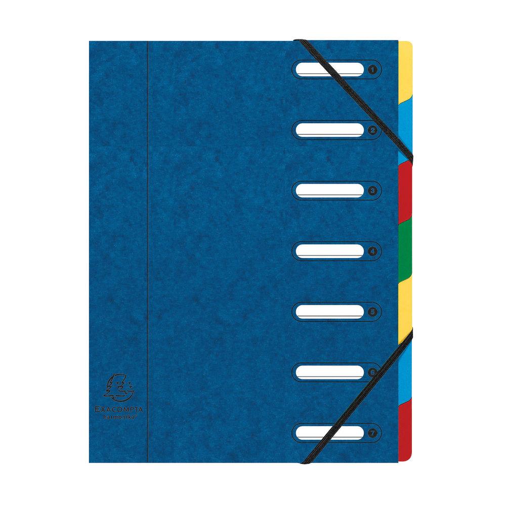 Exacompta Harmonika 7-Part File A4 Blue 55072E