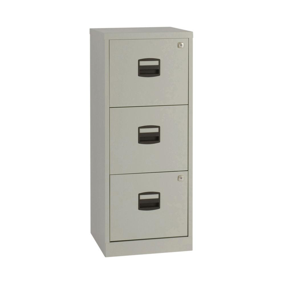 Bisley 1015mm A4 Grey 3 Drawer Home Filer - BY60794