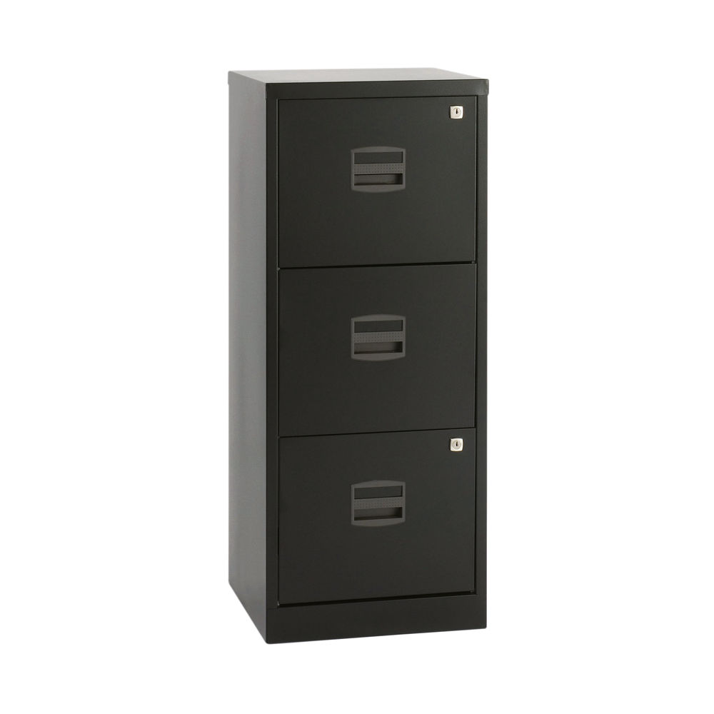 Bisley 1015mm Black Home 3 Drawer Filing Cabinet - BY48279