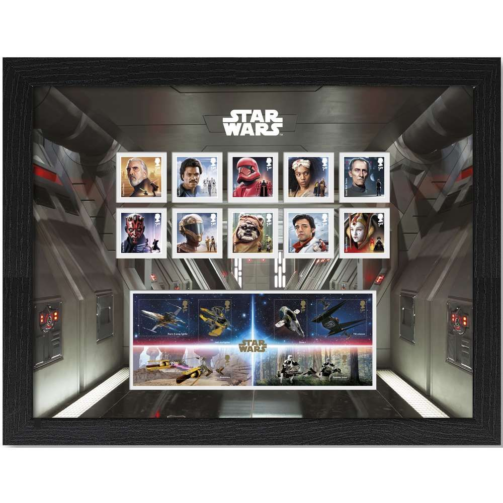The Star Wars Framed Stamp and Miniature Sheet Set