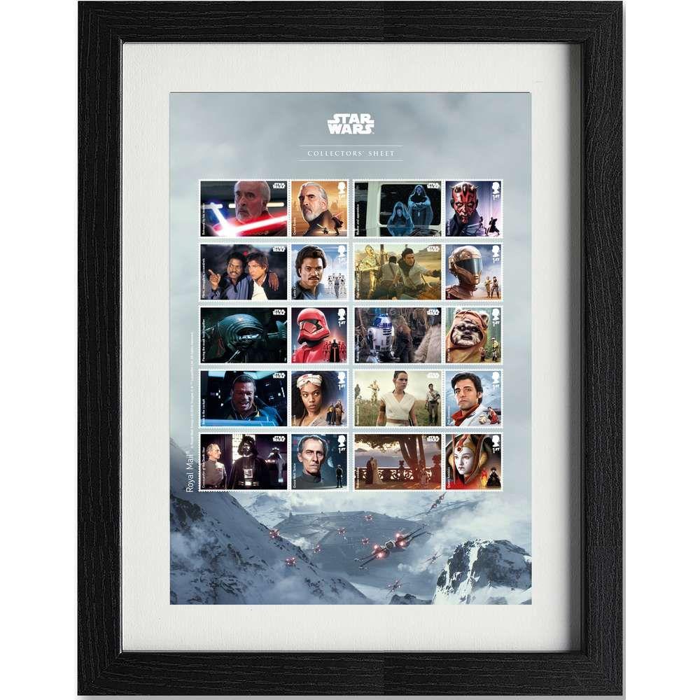 The Star Wars Framed Collectors Sheet
