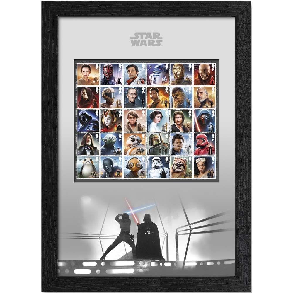 The Star Wars Framed Complete Stamp Set