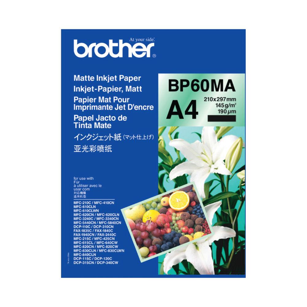 Brother Inkjet Paper Matt A4 Black (Pack of 25) BP60MA
