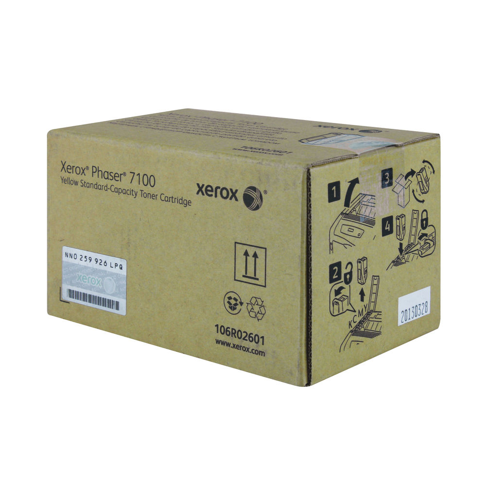 Xerox Phaser 7100 Yellow Laser Toner Cartridge - 106R02601