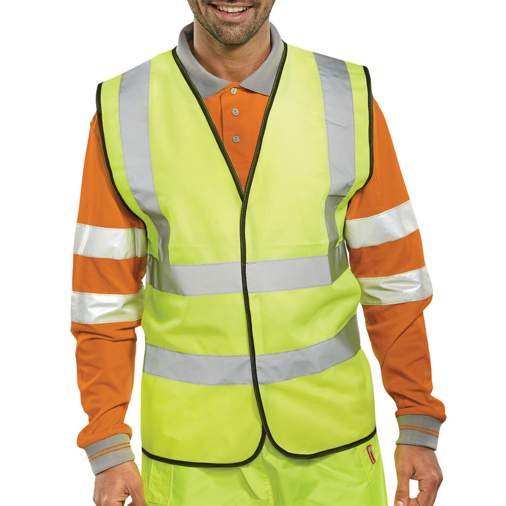 Large Yellow Hi-Visibility Vest - WCENGL