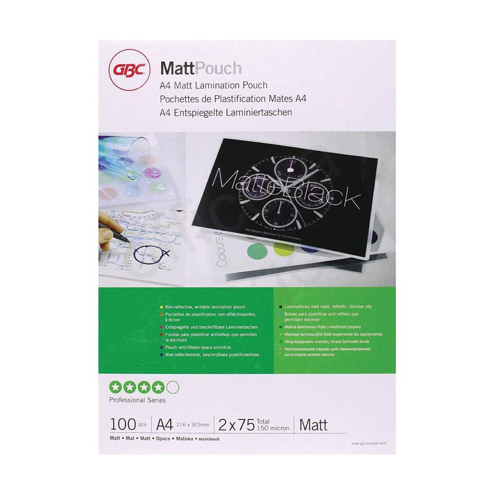 GBC A4 Matt Laminating Pouches, Pack of 100 - 3747240