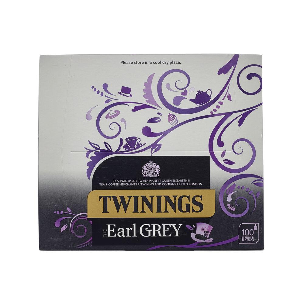 Twinings Earl Grey Tea Bags, Pack of 100 - F09363