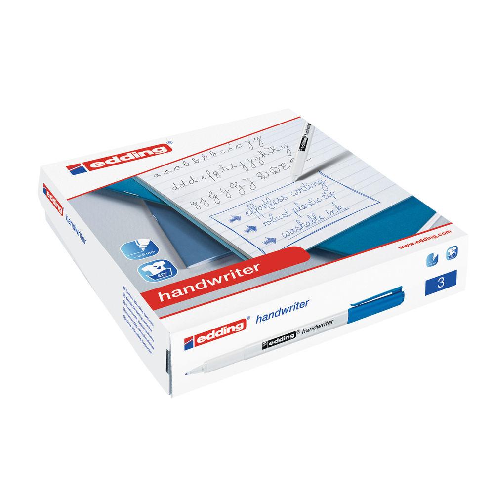 Edding Blue Handwriter Pens, Pack of 200 - 300463000