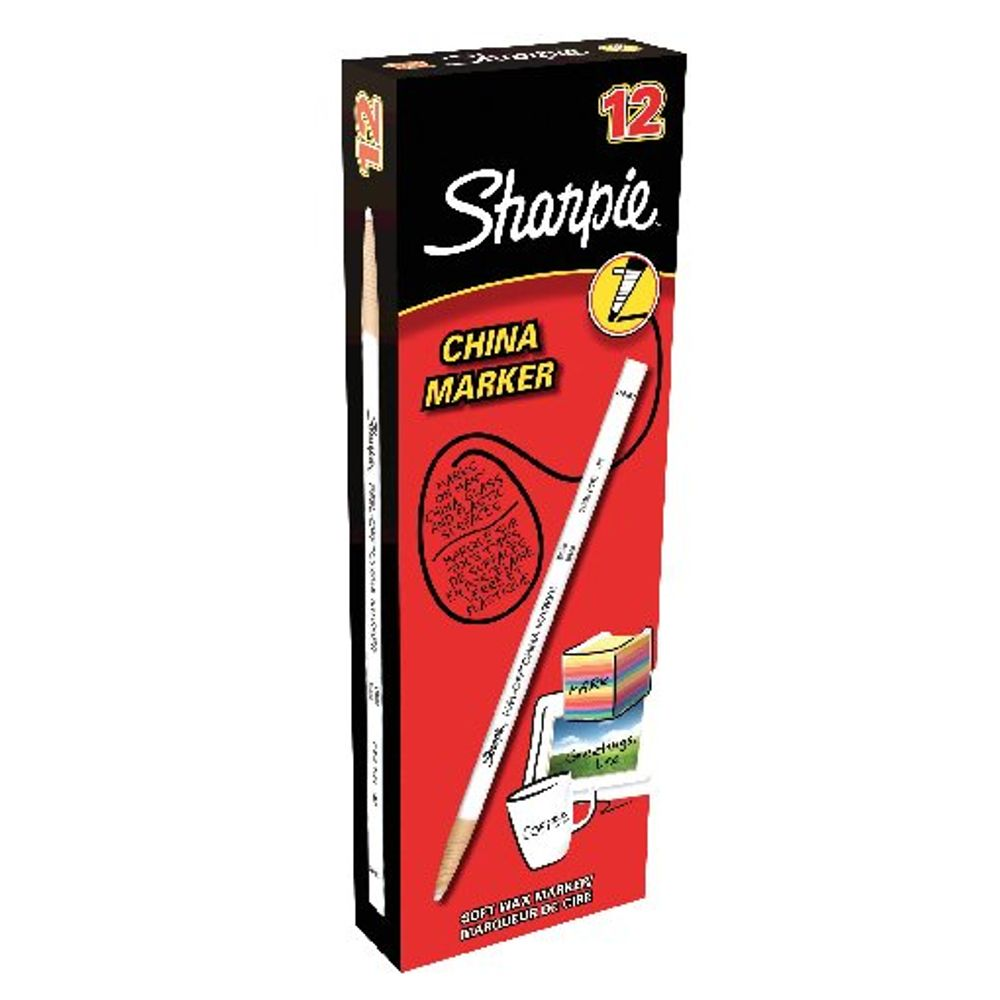 Sharpie White China Marker Pencils, Pack of 12 - S0305061