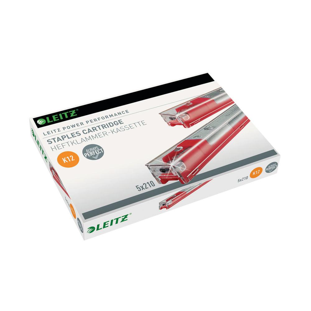Leitz Staple Cartridge Heavy Duty 12mm Red (Pack of 5) 55940000