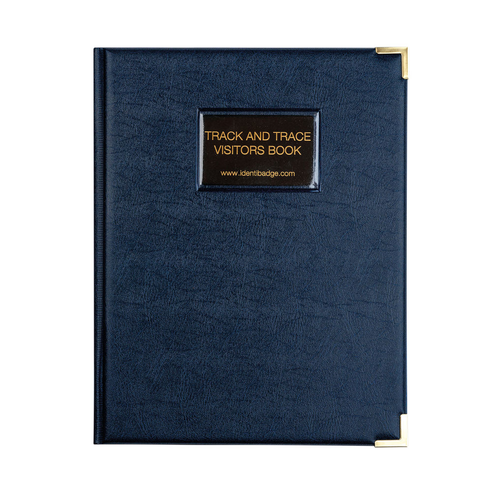 Identibadge Track And Trace Visitor Book With Binder GDPR Comp IBVB-TT