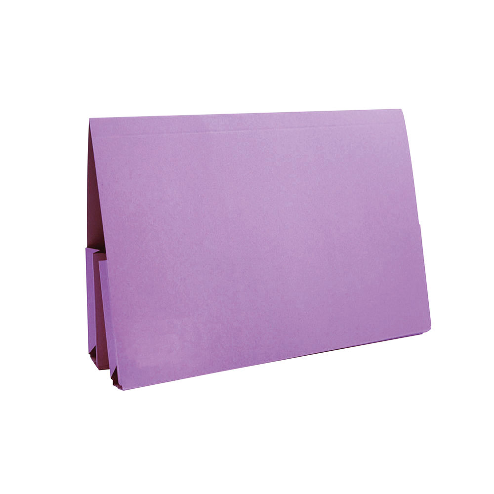 Exacompta Guildhall Mauve Double Pocket Legal Wallet Fc (Pack of 25) 37214
