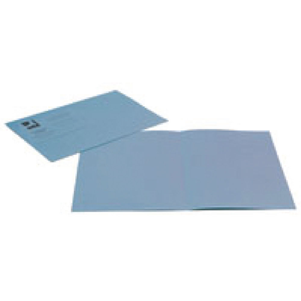 Q-Connect Blue Foolscap Square Cut Folders 180gsm, Pack of 100 - KF26033