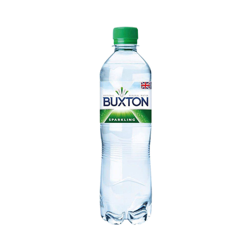 Buxton 500ml Sparkling Water Bottles, Pack of 24 - 12120791