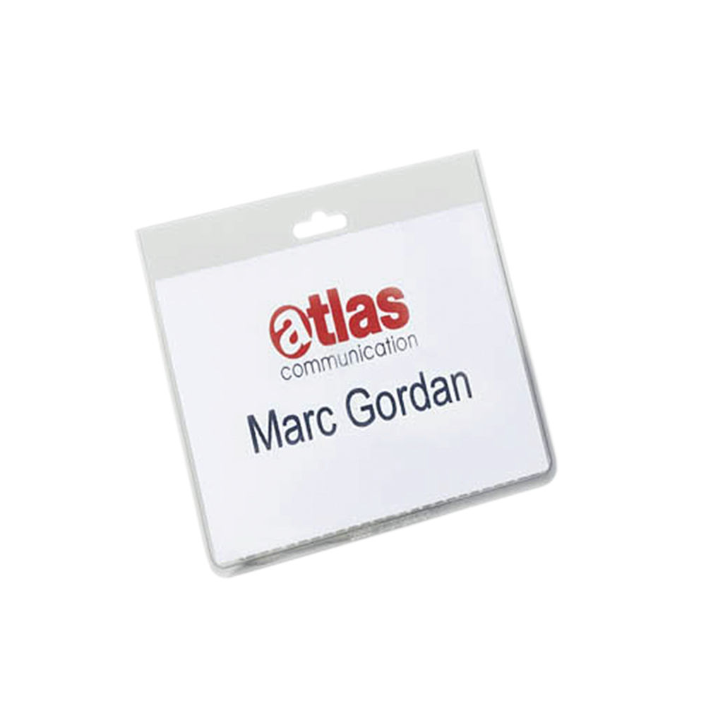 Durable 60 x 90mm Security Name Badges, Pack of 20 - 8135/19