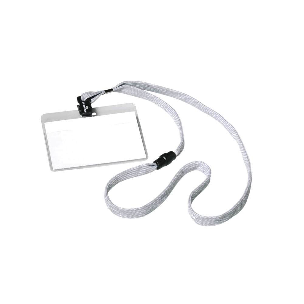 Durable Name Badge with Textile Lanyard 60x90mm (Pack of 10) 8139/10
