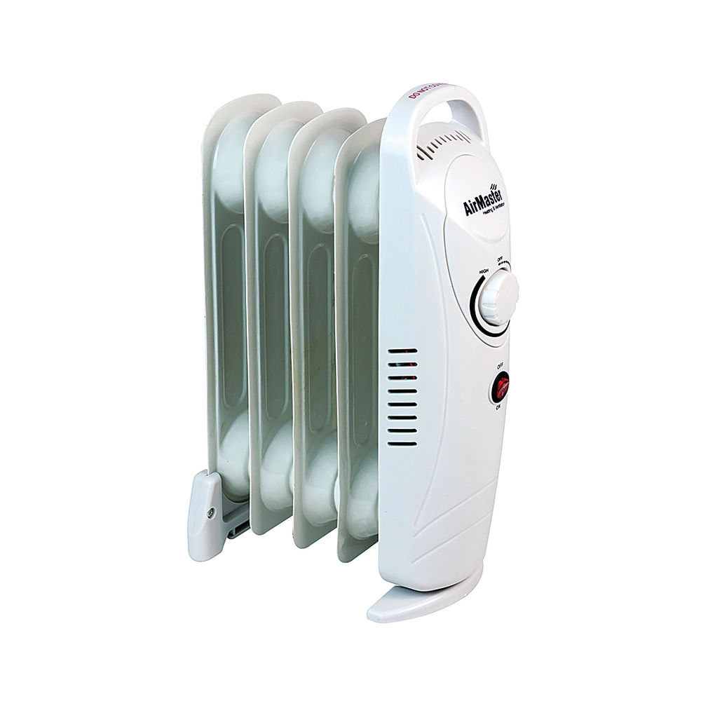 500W White Six-Fin Oil-Filled Baby Radiator | CRMINI