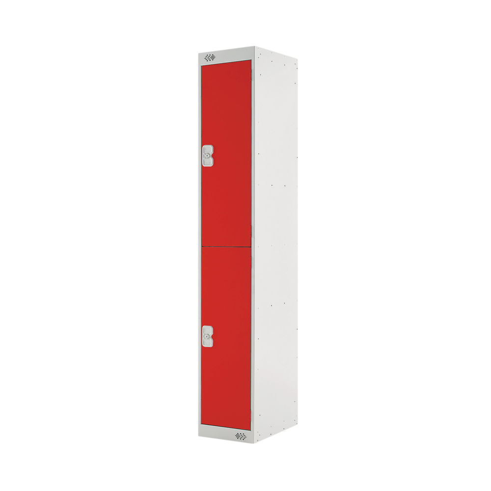 Two Compartment D300mm Red Locker - MC00011