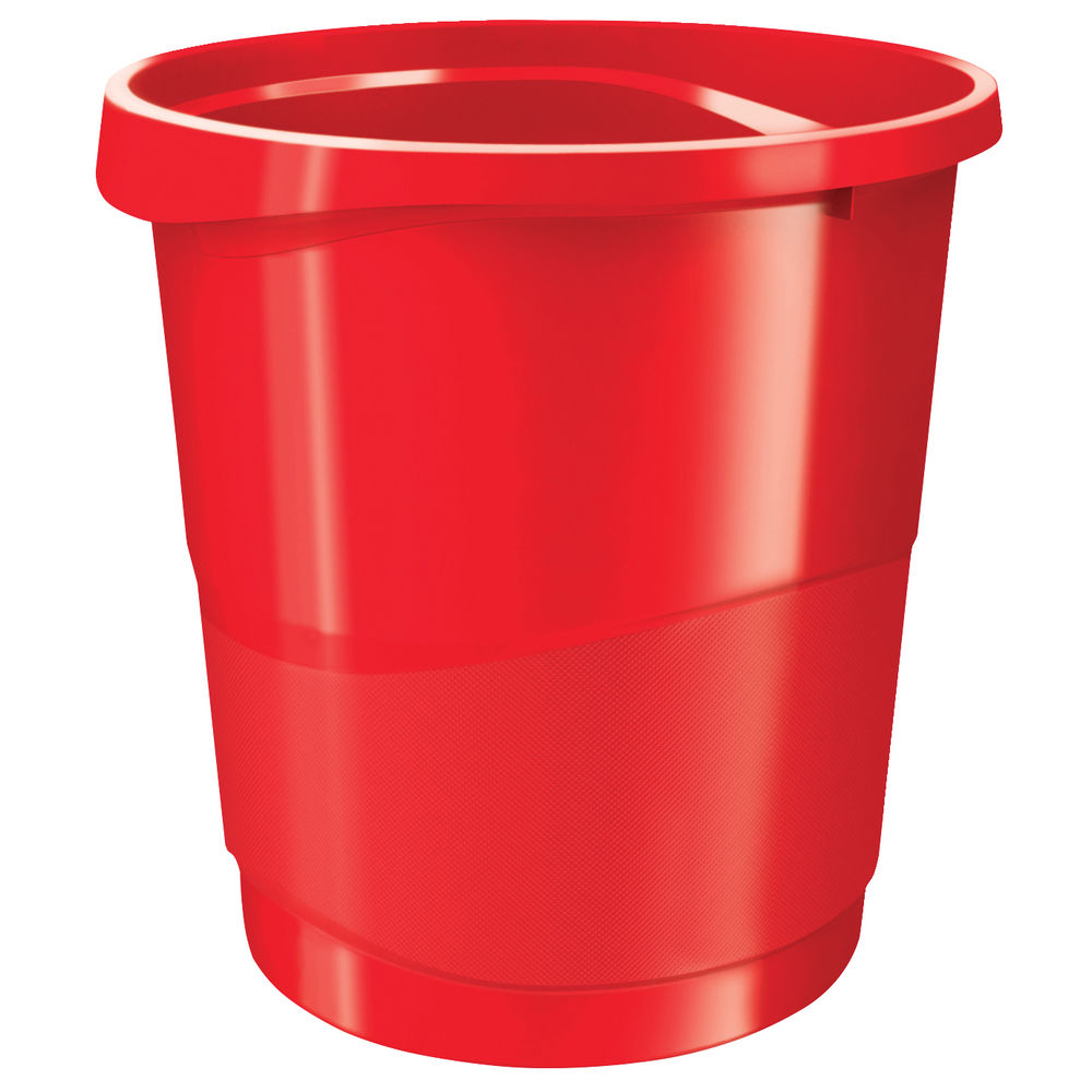 Rexel Choices Red 14-Litre Waste Bin | 2115618