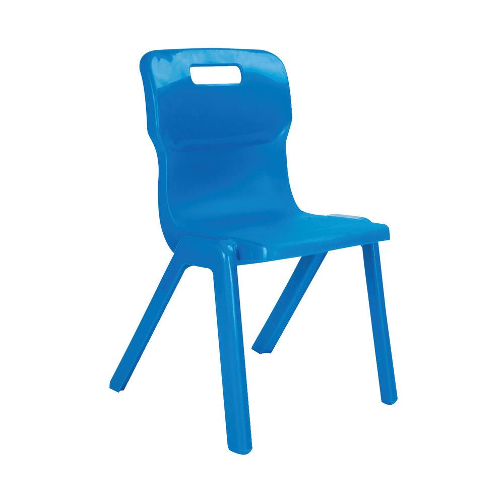 Titan 260mm Blue One Piece Chair – T1-B