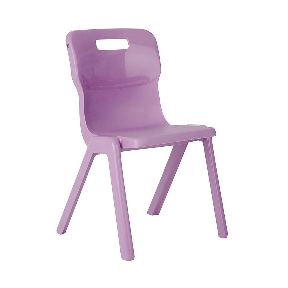 Titan 460mm Purple One Piece Chairs, Pack of 10