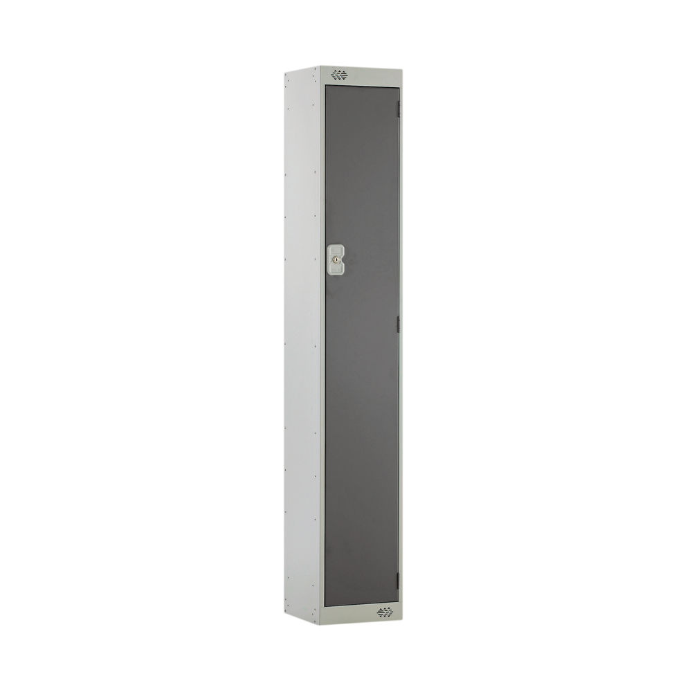 One Compartment D450mm Dark Grey Locker - MC00039