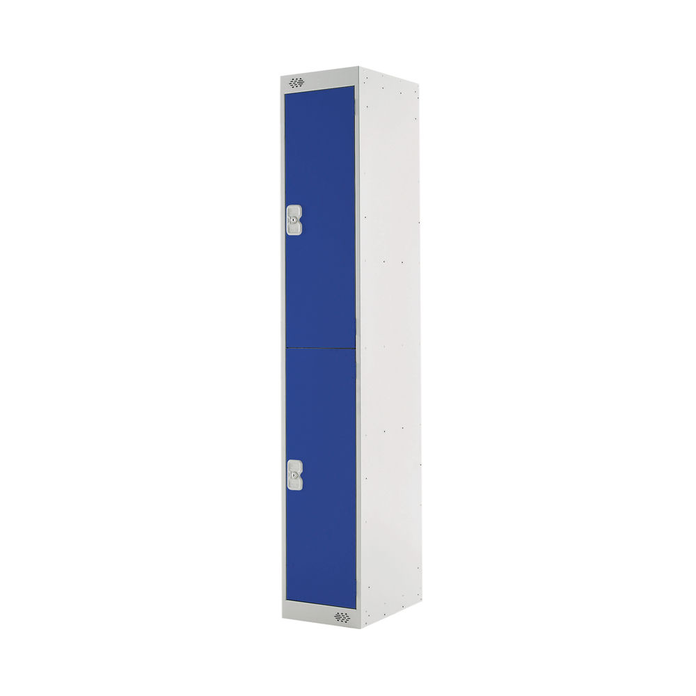 Two Compartment D450mm Blue Locker - MC00043