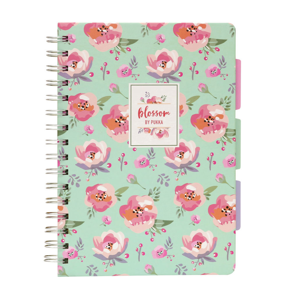 Pukka Pad Blossom A5 Project Books, Pack of 3 - 8653-BLO