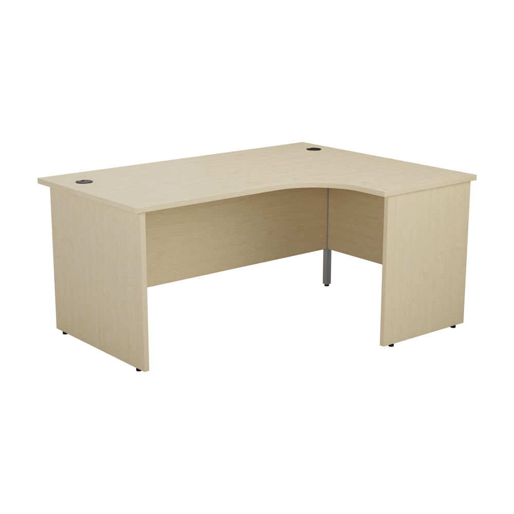 Jemini 1600mm Maple Right Hand Radial Panel End Desk