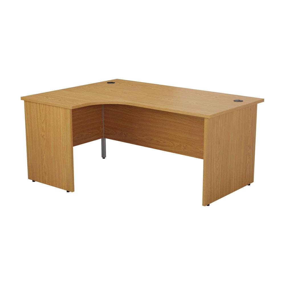 Jemini 1800mm Nova Oak Left Hand Radial Panel End Desk