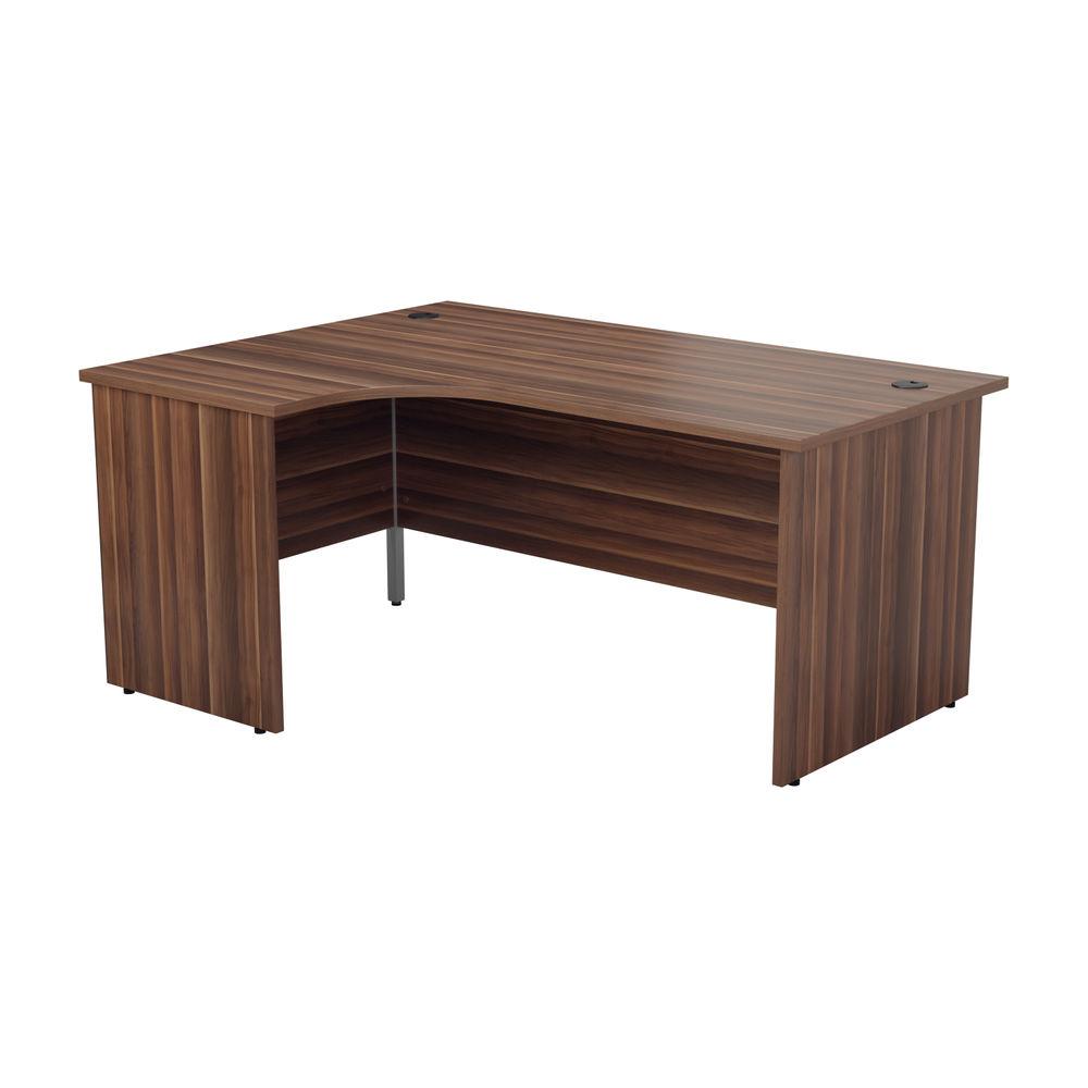 Jemini 1800mm Dark Walnut Left Hand Radial Panel End Desk