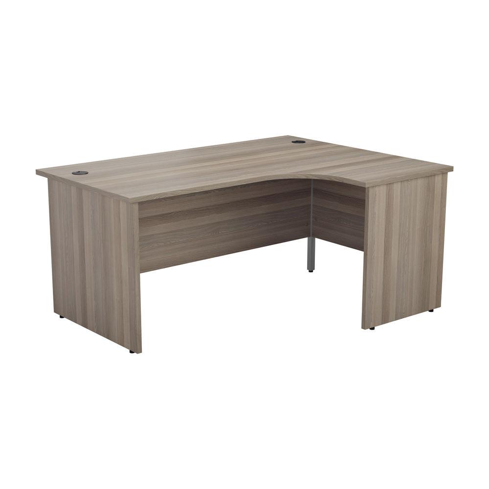 Jemini 1800mm Grey Oak Right Hand Radial Panel End Desk