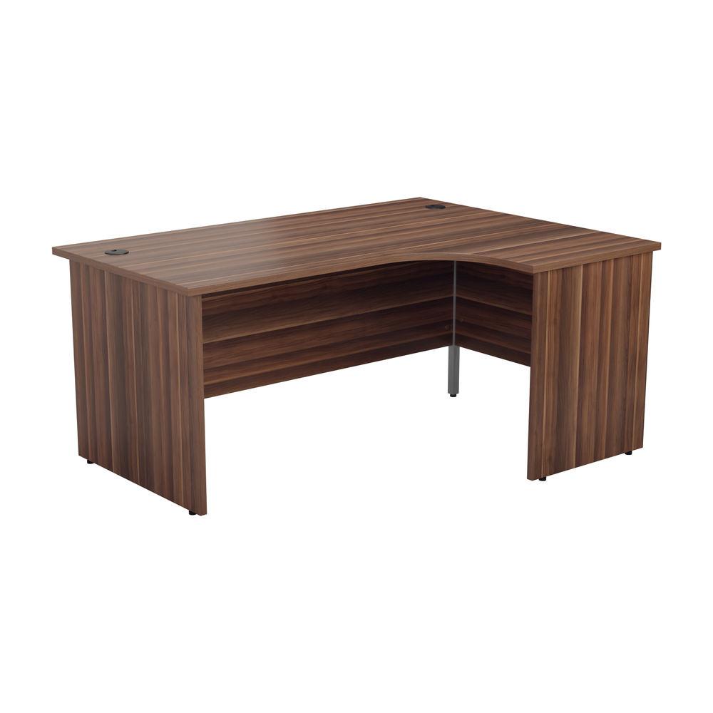 Jemini 1800mm Dark Walnut Right Hand Radial Panel End Desk