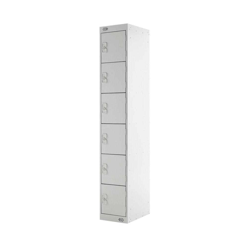 Six Compartment D300mm Light Grey Locker - MC00032