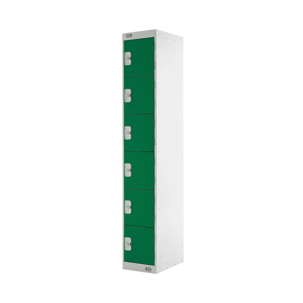 Six Compartment D300mm Green Locker - MC00034