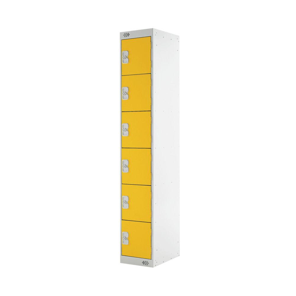 Six Compartment D300mm Yellow Locker - MC00036